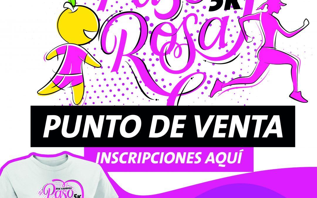 Puntos de venta para la carrera «Paso Rosa»